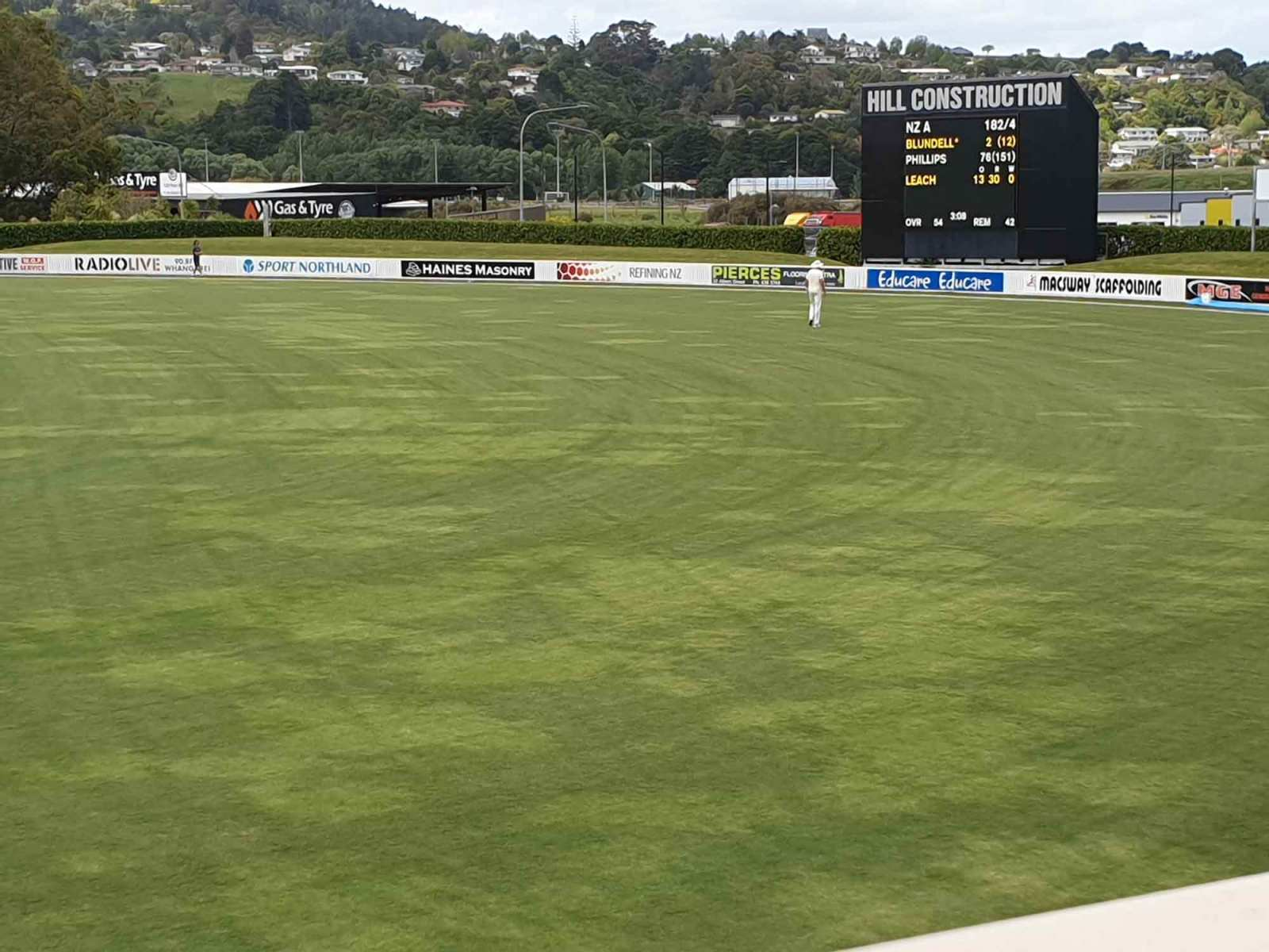 Hill Construction Scoreboard at Cobham Oval Whangarei